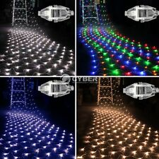 100 LEDs Net Fairy Lights Mesh curtain Lighting Christmas Xmas Party Wedding DZ8