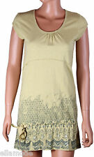 Fenchurch Womens Thyme Green Cap Sleeve T Shirt Dress Top Free UK Shipping BNWT