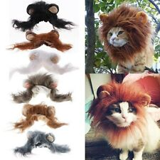 Pet Costume Lion Mane Wig for Dog Cat Halloween Clothes Festival Dress up w/ Ear