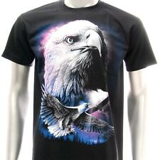 sc30 Sz M Survivor Chang T-shirt Tattoo Glow in Dark Flying Eagle Rock Freedom