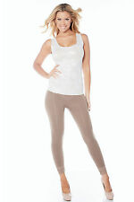 Rhonda Shear Ahh Lovely High Waist Legging with Lace Cuff - 1395 Retail $38.00