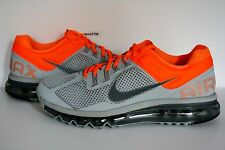 AUTHENTIC Nike Air Max+ 2013 Wolf Grey Silver Orange # 554886 009 mens