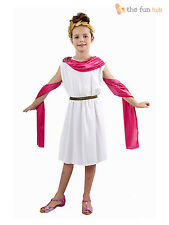 Girls Greek Goddess Athena Roman Egyptian Toga Book Week Day Fancy Dress Costume