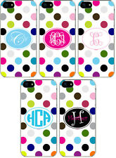 Rainbow Polka Dot Pattern Personalized iPhone 6 Custom Slim Hard Case Cover