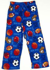 Boys Pajama Pants Up-Late Lounge Bottoms Flannel Sports Print