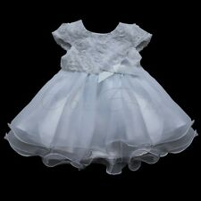 CHRISTMAS 3D ROSE FLOWER GIRL DRESS WEDDING  BRIDESMAID PAGEANT PARTY DRESSES