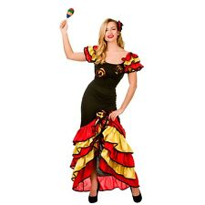 NEW Rumba Dancer Ladies Latin Dancing Halloween Fancy Dress Costume