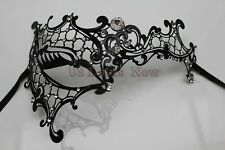 Phantom Collection Masquerade Laser Cut Venetian Mask W/ Rhinestones Filigree