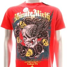 m276 Minute Mirth T-shirt Tattoo Skull Men Tee Flying Ghost Angel Rose Cotton