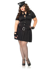PLUS SIZE Women's Sexy Police Officer Cop Dress Outfit Adult Halloween Costume