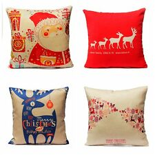 Home Decor Pillow Cover Xmas Merry Christmas/Santa Claus/Deer Cushion Cases New
