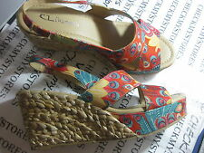 NIB NEW Cl By Chinese Laundry Dream Again Espadrille Womens Sandals Mid To High