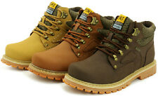 Men's Women's Ankle Martin Boots Leather Lace Up Work Safety Snow Military Shoes