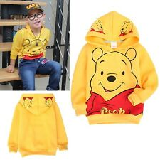Cute Clothes Animal Printed Winnie the Pooh Kids Boy Hoodies T-shirt Long Sleeve
