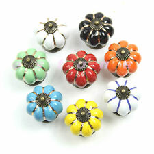 Ceramic Kitchen Pumpkins Knobs Handles Pull Drawer Door Cabinets Cupboard New