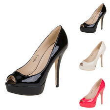 LUXUS NEU DESIGNER DAMENSCHUHE PUMPS 7t76 HIGH HEELS PLATEAU PEEP TOE 0€
