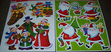 Christmas Window Clings,2 styles,modern Santas,traditional holiday,carolers,toys