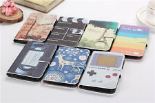 7 Choice Eiffel Tower/Big Ben/Video Wallet Flip PU Leather Case for Nokia Phones