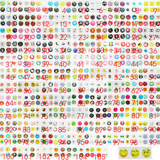 105 Set Cartoon Home Button Sticker Decal Protector For iPhone 4/5/6/ iPad/Touch