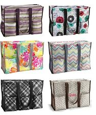 Thirty One Super Organizing tote utility Bag Plum stripe & more gift 31 new