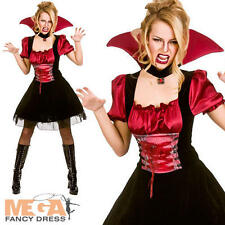 Bloodlust Vamp Ladies Halloween Fancy Dress Womens Vampire Adult Costume Outfit