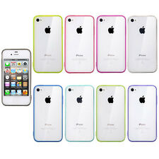 Thin Crystal Clear Transparent Soft Gel Silicone Case Cover For iPhone 4 4S 4G