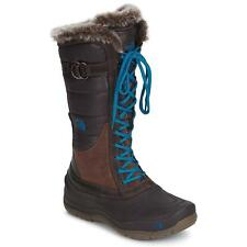 The North Face $150 Shellista Lace Womens Snow Boot Shoes Brown Blue Winter Cold