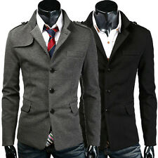 BIG CHEAP Mens Mature Winter Jackets Coats Overcoat Outwear Business Button Tops
