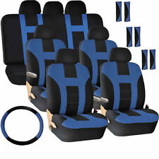 30PC NEW VAN GIFT BLUE COMBO-CP- SEAT COVERS STEERING WHEEL COVER SHOULDER PADS