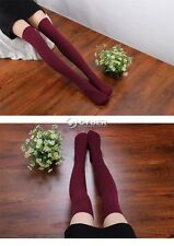 Women Lady Knit Wool Over Knee Thigh Stockings High Socks Pantyhose Tights DZ88