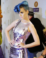 KATY PERRY BLUE HAIR MIRRORED DRESS PHOTO OR POSTER