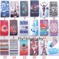 Fashion Pattern Magnetic PU Leather Flip Wallet Stand Soft Case Cover For Phones