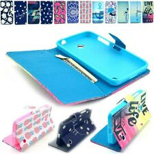 For Nokia Lumia 630 Paint Case PU Leather Magnetic Flip Wallet Phone Stand Cover