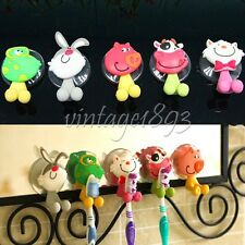 Wall Suction Cups Cartoon Animals Toothbrush Toothpaste Holder Bathroom