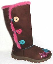 NEW SKECHERS TREKSTER CHOCOLATE TWINKLE TOES BOOTS