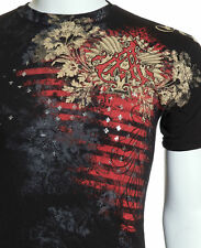 Archaic AFFLICTION Mens T-Shirt WALLPAPER Fighter Biker UFC American M-4XL $40