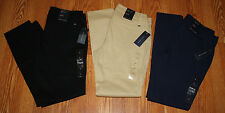 NWT Womens TOMMY HILFIGER Navy Khaki Black Slim Leg Pants 2 4 6 8 10 12 14 16 18