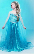 Frozen Elsa Anna Princess Costume Girls Halloween Costumes Disney Cosplay