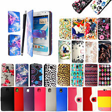 For Samsung Galaxy Note Phones New Printed PU Leather Flip Case Cover + Stylus
