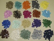 LEGO COLORED 1 X 2 FINISHING TILES SMOOTH FLAT GROOVE BRICKS BLOCKS YOU PICK
