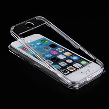 For iPhone 6 5 Plus 5S Clear Crystal Hard Case Full Body 1 Front & 1 Back Cover