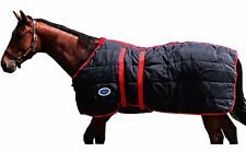 Derby 1200D Nylon Closed Front Horse Stable Blanket w Belly Wrap 300g Insulated