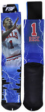 For Bare Feet Derrick Rose Chicago Bulls Basketball Sublimated Crew Sock 10-13