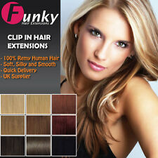 Clip In Remy Human Hair Extensions Full Head. 8 wefts included from Funky Hair