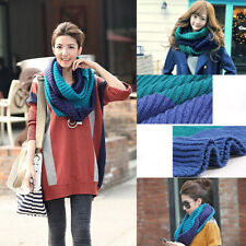 New Fashion Winter Warm Infinity Cable Knit Cowl Neck Long Women Scarf Shawl 39