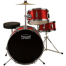 Union UJ3 3-Piece Junior Drum Set with Hardware, Cymbal and Throne