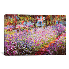 Jardin De Giverny  by Claude Monet Canvas Print Wall Art