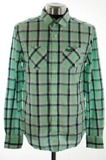 New Mens Superdry Paperweight Madras Shirt Albion Vintage Madras Spearmint W1