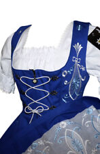 3-Piece SHORT BLUE German Wear Bavarian Oktoberfest Waitress DIRNDL Party Dress