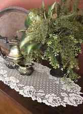"""Heritage Lace COTTAGE ROSE Table Runner 34"""" - 2 Colors: Ecru or White"""